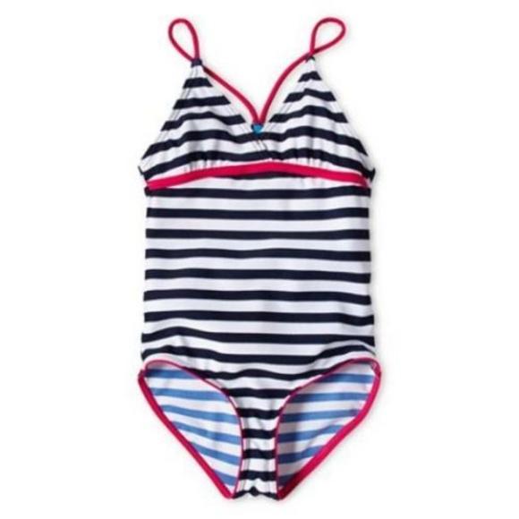 9812ef4006 Joe Fresh Swim | Navy Striped Onepiece Suit Xs 45 | Poshmark